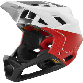 Fox Proframe Matte Casco Full Face Hombre, white/black/red